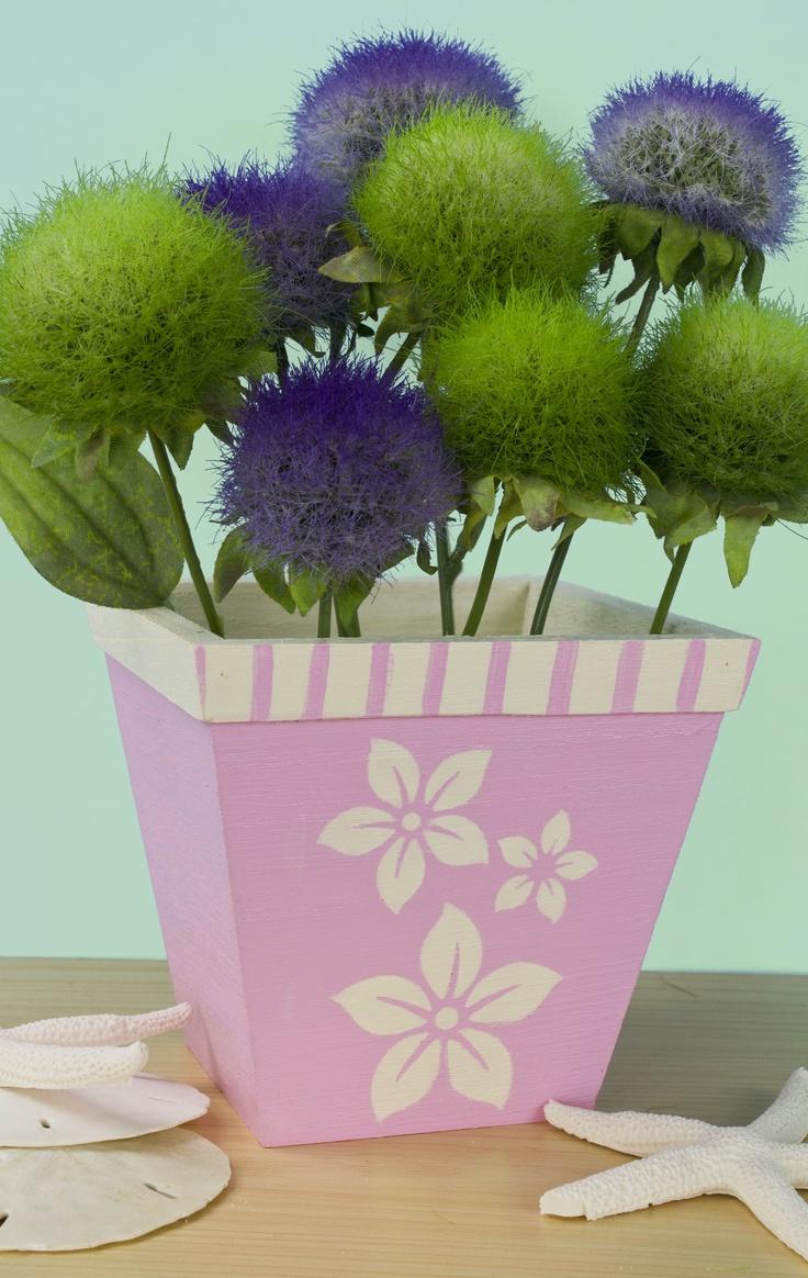 Flower Pot With Patio Paint