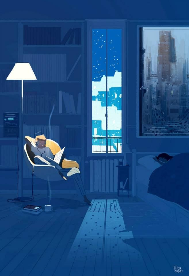 Midnight reading by Pascal Campion