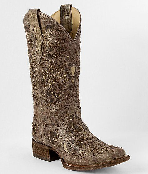 """""""Corral Studded Cowboy Boot"""" Thinking of getting either these or the ones with the teal accents from countryoutfitter.com"""