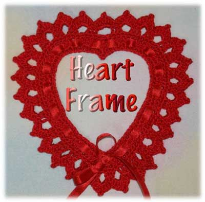 ♥ⓛⓞⓥⓔ♥  Heart Frame free crochet pattern. This would make such a wonderful gift for someone special. ¯\_(ツ)_/¯