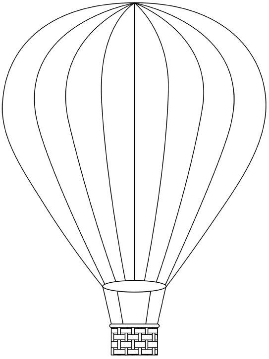 Ballon1 Montgolfière dessin Modèle de ballon Montgolfières
