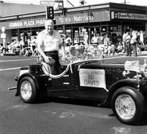 California State Senator Ed Davis in the Youth in Action parade sponsored by the Granada Hills Chamber of Commerce. October 10, 1982. Robert and Betty Franklin Collection. San Fernando Valley History Digital Library.: Valley History, History Digital, Fernando Valley, Digital Libraries, Action Parade, Franklin Collection, Collections Pin, California States, Digital Collections