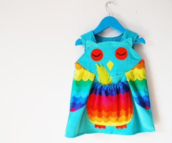Traje de bebé de las muchachas buho vestido por wildthingsdresses