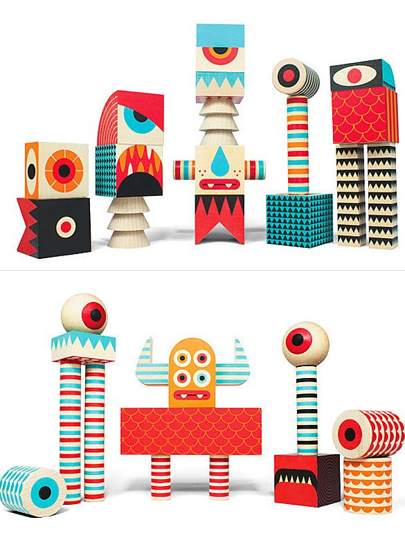 Stack And Scare! is a series of four block sets featuring monster eyeballs, teeth, horns, arms, heads, hands, feet, legs, torsos, rounded shapes, patterns. Possibilities are endless for kids to cre…