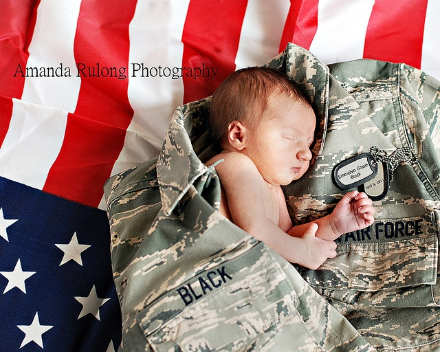 Just a thought for baby announcements, Brit...of course minus the Air Force ACUs and plus the Army ones.