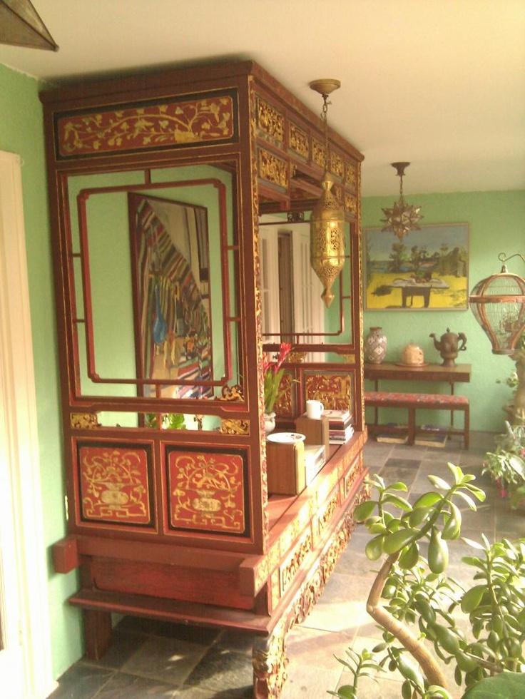 Antique Bed: Opium Bed, Origin China, Circa 1900,