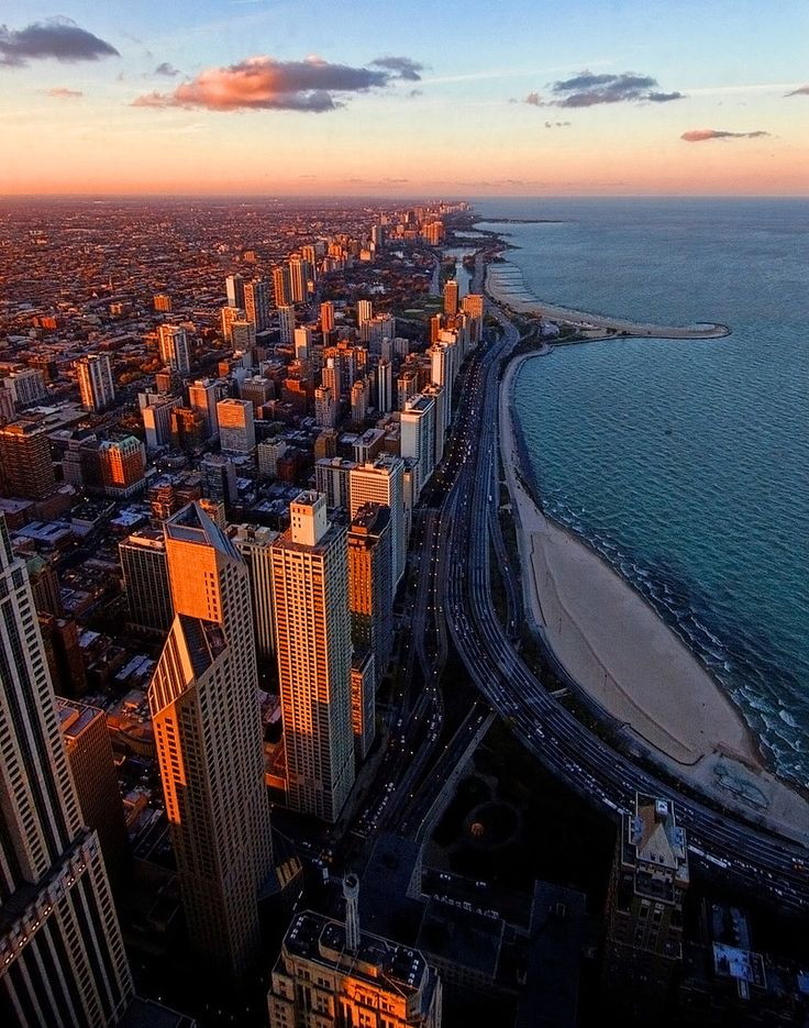 Chicago Illinois USA North Shore Sunset by