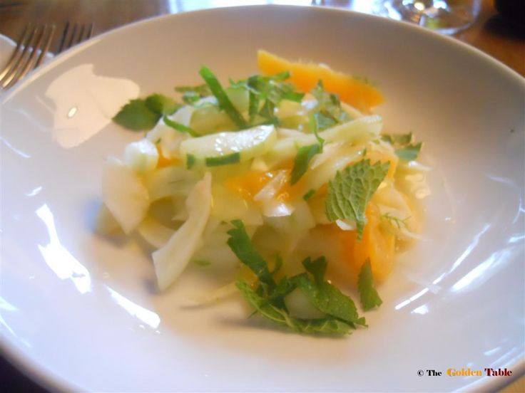 CITRUS AND FENNEL SALAD 1 orange in segments Fennel bulb steamed 2 T ...