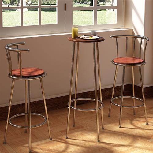 Ebay tavolini da bar tavolo bar alto in acciaio e legno for Tavolo alto tipo bar
