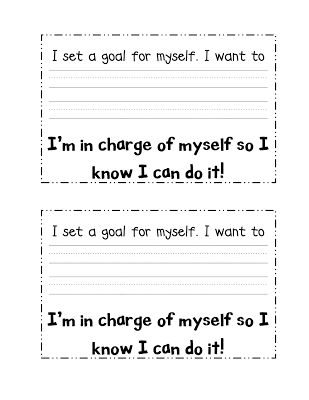 Crazy for First Grade: Goal Setting