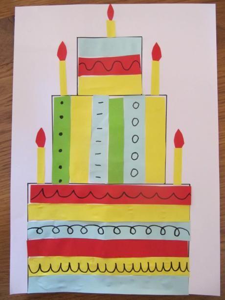 taart knutselen 2 - Liselotje is jarig