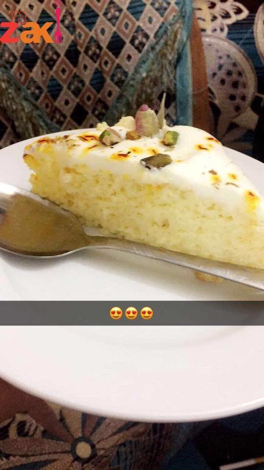 طريقة كيكة الحليب بالزعفران زاكي Desserts Food Cheesecake