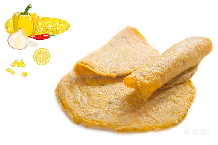 Tortillas di mais e peperoni freschi senza farine