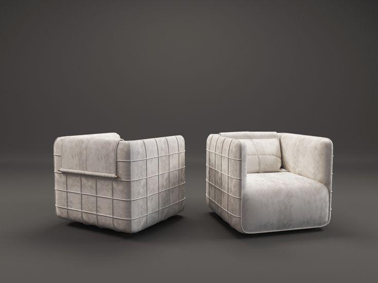 TORINO armchair by Ekaterina Elizarova. Nubuk, brass. #unique #design #furniture #ekaterinaelizarova #elizarova #limited #edition #madeinitaly #handcrafted #elizarovadesign #limitededition #art #modernart #collection