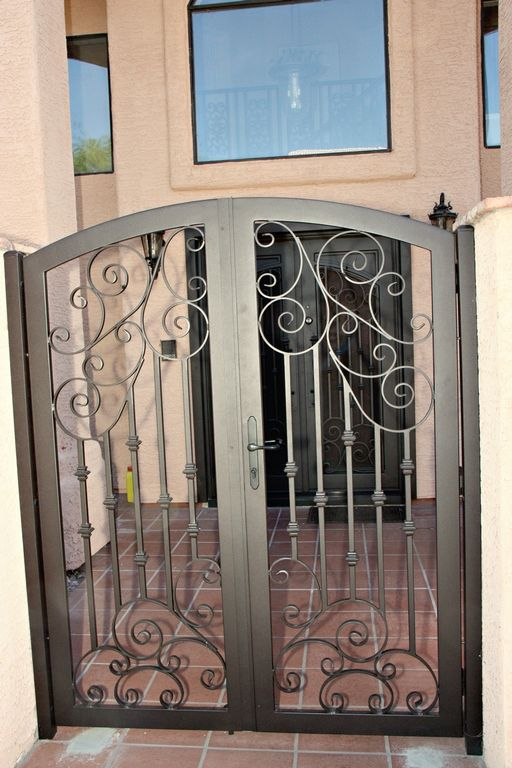 Iron Entry Gate By First Impression Security Doors