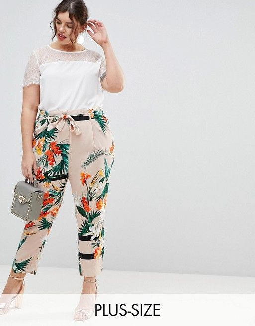 f81c9fb0a0c6e9 Plus Size Tropical Pants Outfits | Body Positive Fashion | Fashion ...