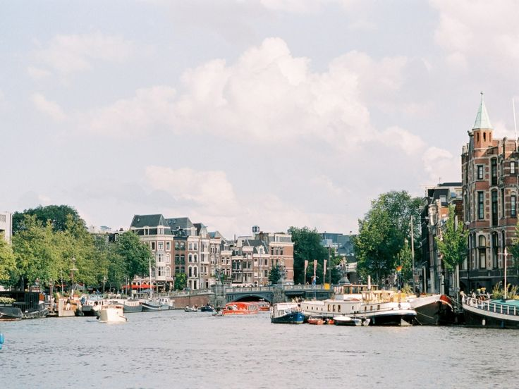 Romantic Amsterdam View in summer.. Wedding Photographer Amsterdam | Film Photographer