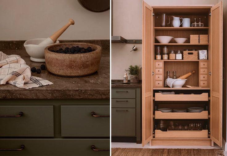 Kjøkken inspirert av nordisk natur, smart høyskap
