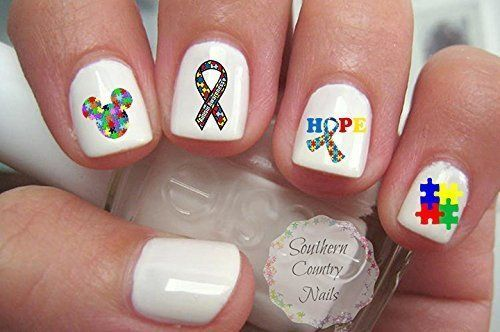Autism Awareness Nail Art Decals Southern Country Nails