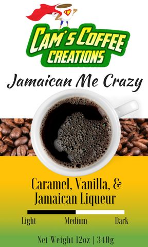 Cam's Coffee Creations 8oz Jamaican Me Crazy Ground Coffee