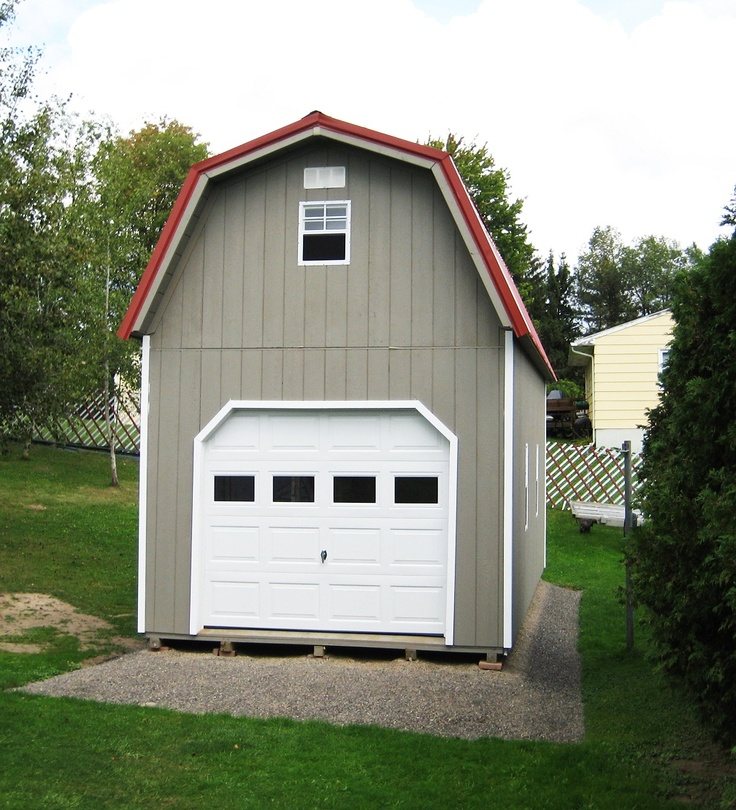 Pin by wood tex products on garages prefab and on site for Two story metal garage