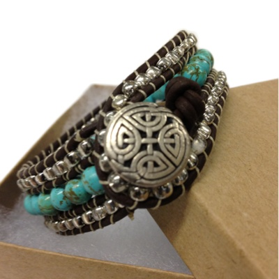Leather Wrap CuffTexas Leather, Funky Jewelry, Bracelets, Jewellery Jewelry, Leather Jewelry, Leather Wraps, Beads, Wraps Cuffs, Imaginary Closets