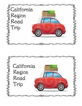 California Region Road Trip - could be region brochure bulletin board