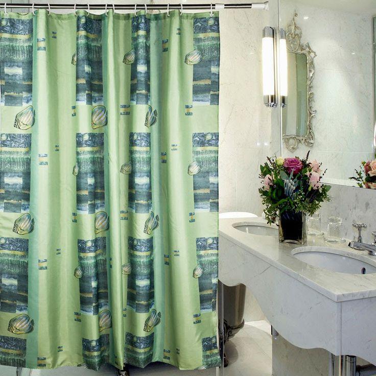 49 best Bathroom curtains images on Pinterest | Bathroom window ...