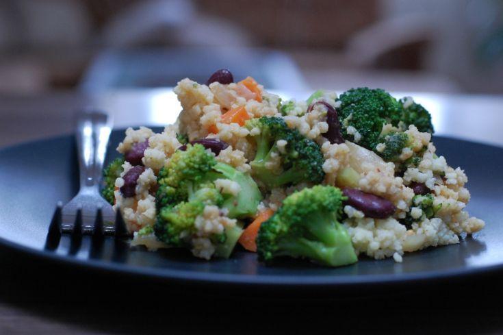 Fotorecept: Pšenové fazuľové rizoto s brokolicou