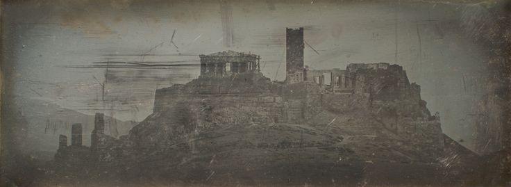 """Athènes. Acropole. Côté O."" by Joseph-Philibert Girault de Prangey, 1842 daguerreotype Metropolitan Museum of Art"