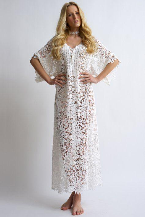 cotton kaftan - bloeur.gr white lace caftans bloeur fashion 2017 summer beachwear wedding gamos dress