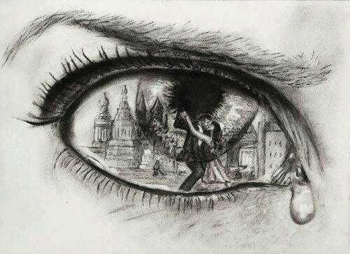 Disegni a matita tristi