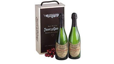 Caja de navidad con cava Juve & Camps reserva para #regalos de empresa