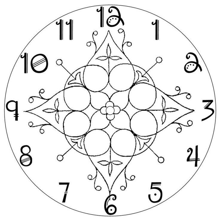 Blank Clock Template  Elioleracom
