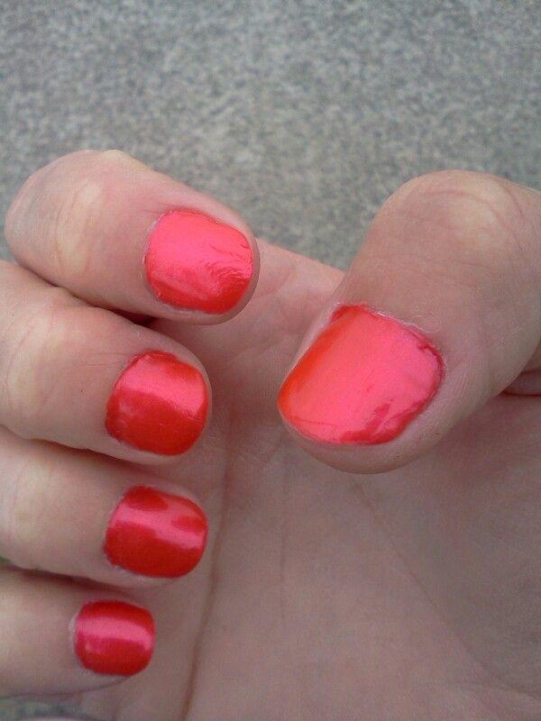 Tropical bright corral ..OPI nail polish