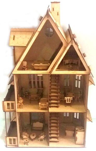 Casinha boneca Polly Completa 25 móveis