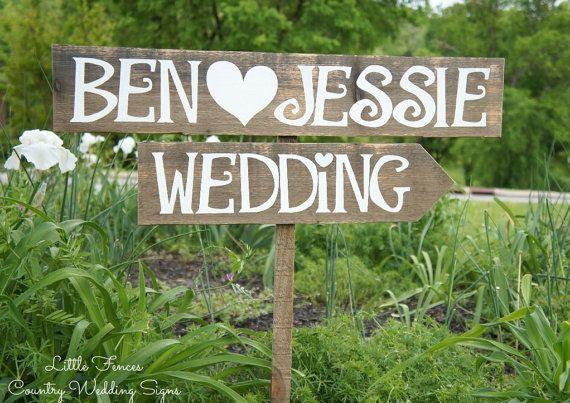 wood wedding decorations | Wood Wedding Signs Rustic Wedding Decor by CountryWeddingSigns, $50.00