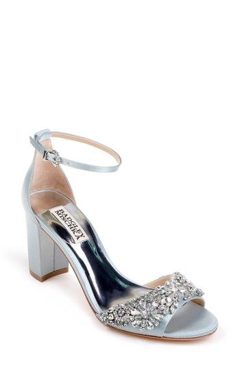 846e6ad4157 Free shipping and returns on Badgley Mischka Hines Embellished Block Heel  Sandal (Women) at Nordstrom.com. Shimmering beads and sparkling crystals  embellish ...