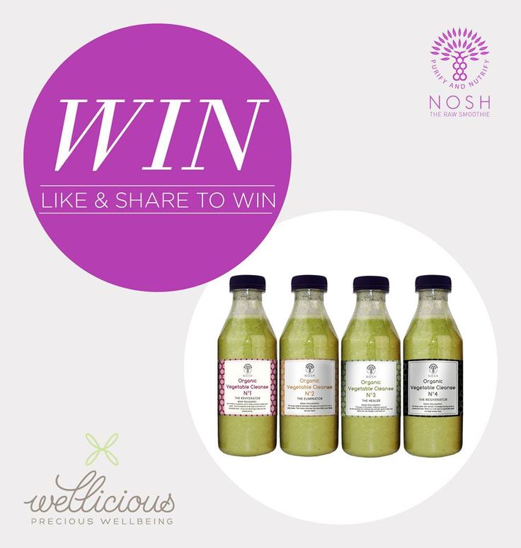 WIN!   Last month Nosh Detox The Raw Smoothie teamed up with us to offer you great deals! This week they are offering a prize of a  Nosh 3 Day Green Organic Vegetable Cleanse! This amazing cleanse is packed with minerals and vitamins and has an alkaline effect on the body. Worth over £250!   To be in with a chance to win please tell us your top tip for getting healthy this Jan 2015! Winners will be picked next Thursday!  #competition #win #healthy #juice #organic #cleanse