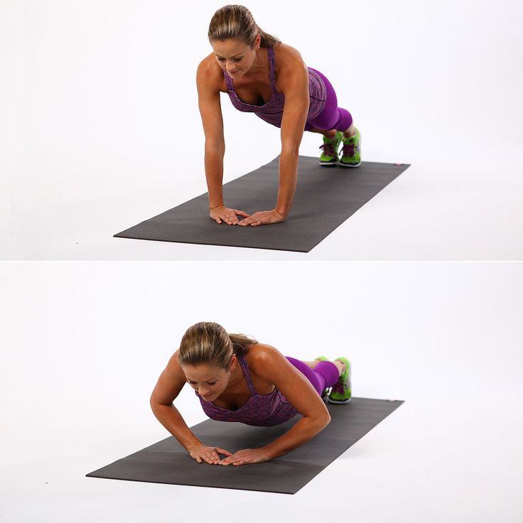Diamond Push-Up: Although the diamond push-up is more common to military workouts, we civvies can still reap the benefits and target our triceps more with this variation. This narrow arm position also focuses the work more on your inner pec.