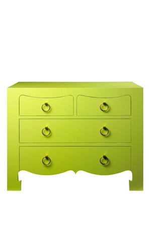 Lime Ming Drawer Dresser Chest Bedroom Funky