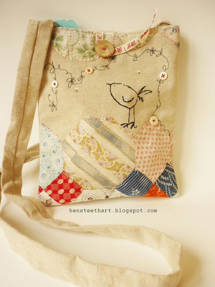 multi embellishment technique hip bag