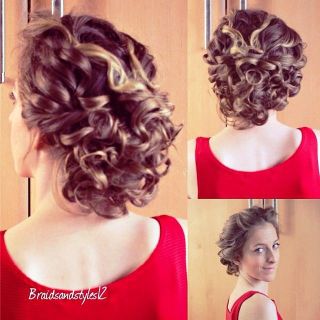 10 best Curly Hair Updos images on Pinterest | Hair dos, Wedding ...