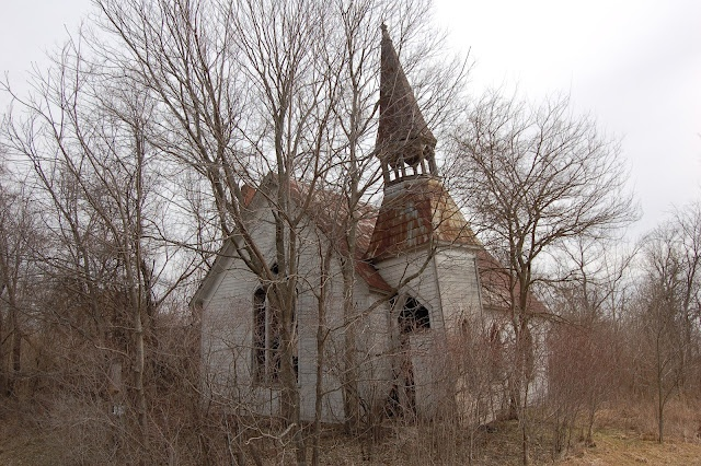 """""""Iowa Church"""" - copyright David J. Thompson from Midwestern Gothic, a great site."""