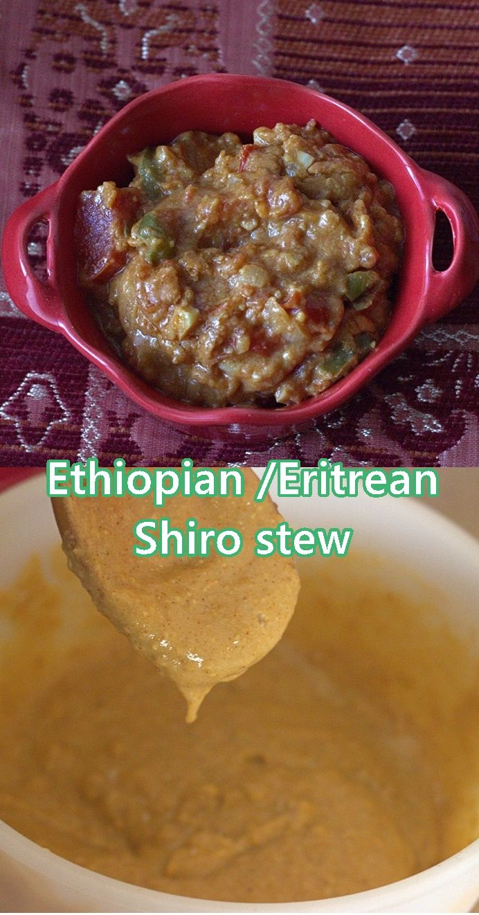 This is shiro, Ethiopian or Eritrean (they seem to be more or less the same) chickpea stew ,with chickpea flour instead of chickpeas #shiro