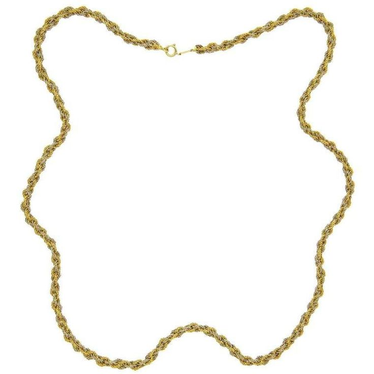 Cartier Gold Rope Chain Necklace
