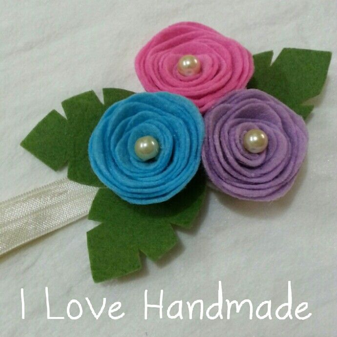 Felt flower headband #ilovehandmade