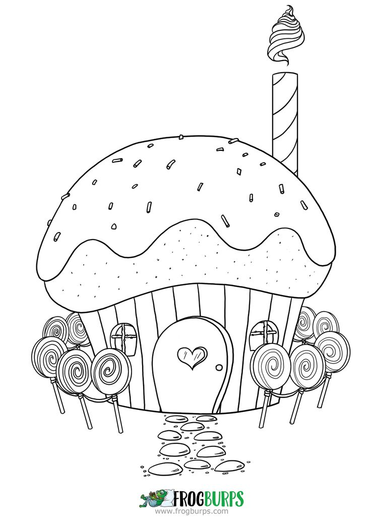 Cupcake House | Coloring Page