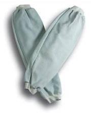 Manguitos: mangas para proteção de soldador em crute, punho elástico (ombro). Tamanho único. Cor: Cinza