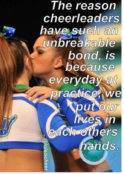 Cheerleading. Great quote!